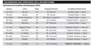 Calendrier UFOLEP 2012