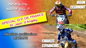 Qualifications G.P de France – St Jean d'Angely