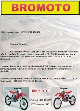LES CR-F 2014 EN TEST AVEC BROMOTO