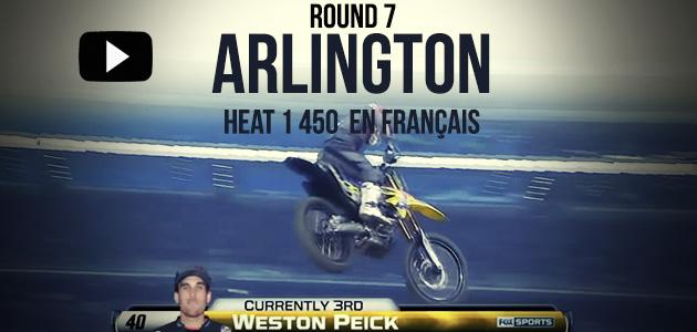 VIDÉO: La Heat 1 de Weston Peick à Arlington en français