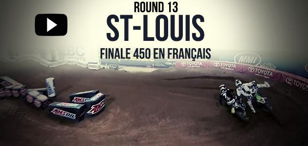 VIDEO: La Finale 450 du Supercross de St-Louis en Français | Rd13