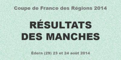 COUPE DES REGIONS 2014: Résultats des manches