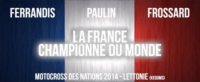 NATIONS 2014: LA FRANCE CHAMPIONNE DU MONDE