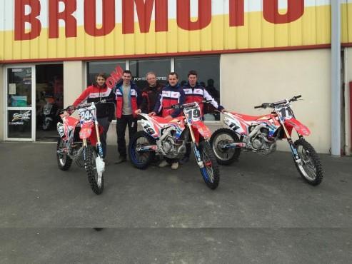 L'équipe BROMOTO prête pour l'ouverture 2015
