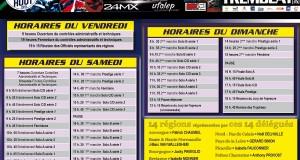 Les horaires du Super Trophée de France