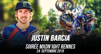 Justin Barcia à la soirée MXDN'IGHT