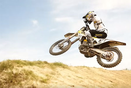 Christophe Pourcel testing Supercross 2016