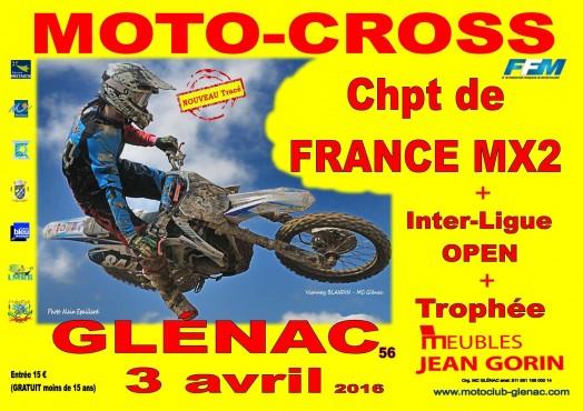 Ouverture du National MX2 à Glénac ce week-end