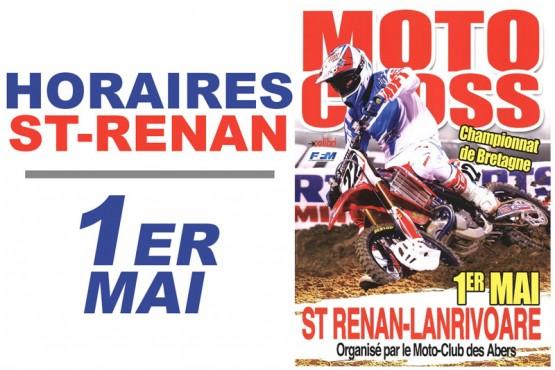 Les horaires pour le motocross de St-Renan