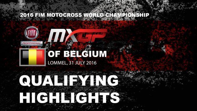 MXGP Qualif Belgique 2016