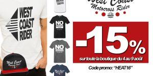 PROMO ÉTÉ: -15% sur la boutique Mx Bretagne