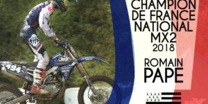 ROMAIN PAPE CHAMPION NATIONAL MX2