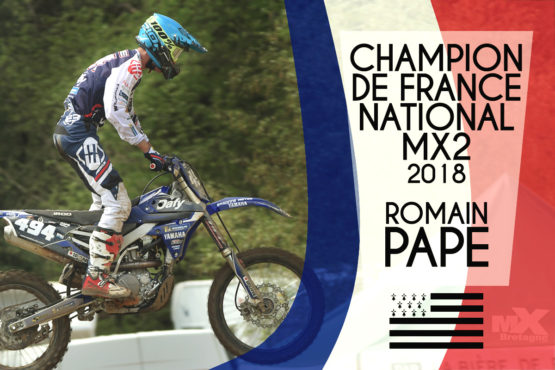 ROMAIN PAPE CHAMPION NATIONAL MX2