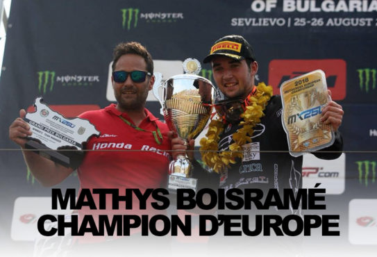 MATHYS BOISRAMÉ CHAMPION D'EUROPE EMX250 2018