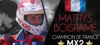MATHYS BOISRAMÉ CHAMPION DE FRANCE 2018